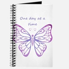 One Day at a Time Quote Butterfly Art Journal