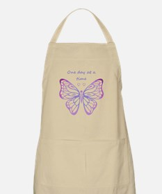 One Day at a Time Quote Butterfly Art Apron