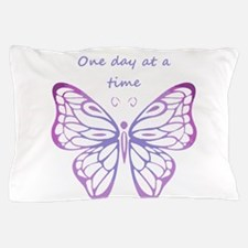 One Day at a Time Quote Butterfly Art Pillow Case