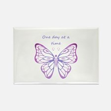 One Day at a Time Quote Butterfly Art Magnets