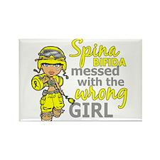 Combat Girl 1 Spina Bifida Rectangle Magnet