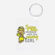 Combat Girl 1 Spina Bifida Aluminum Photo Keychain