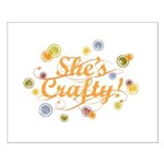She's Crafty Small Poster