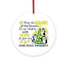 Spina Bifida Christmaspenguins1 Ornament (round)