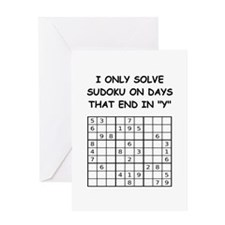 SUDOKU3 Greeting Cards
