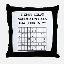 SUDOKU3 Throw Pillow
