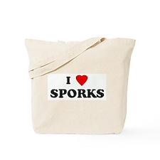 I Love SPORKS Tote Bag