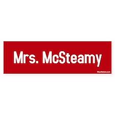 Mrs. McSteamy Bumper Bumper Sticker