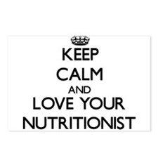 Keep Calm and Love your Nutritionist Postcards (Pa