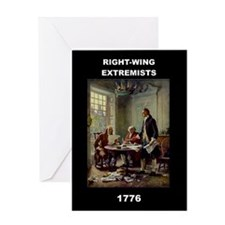 RIGHT WING EXTREMISTS 1776 GREETING CARD Greeting