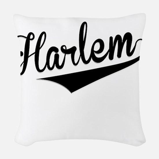 Harlem, Retro, Woven Throw Pillow