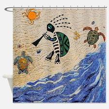 Kokopelli Turtle Shower Curtain