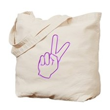 Subtle Peace Sign Tote Bag