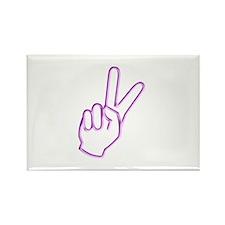 Subtle Peace Sign Rectangle Magnet