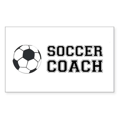 Soccer coach Rectangle Sticker