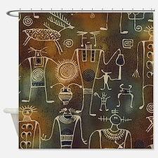 Hopi Petroglyphs Shower Curtain