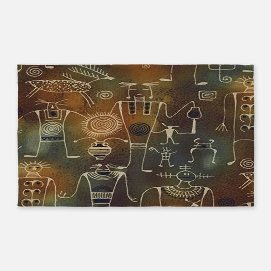 Hopi Petroglyphs Area Rug