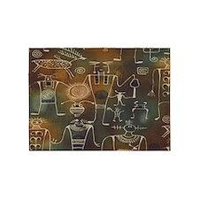 Hopi Petroglyphs 5'x7'Area Rug