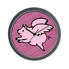 Angel Pigs Wall Clock