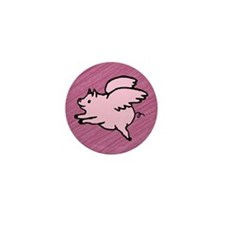 Angel Pigs Mini Button