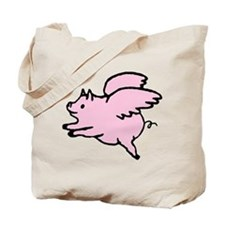 Adorable Angel Pig Tote Bag