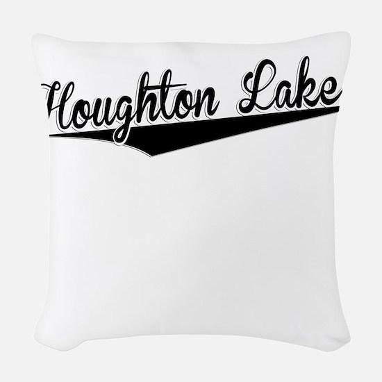Houghton Lake, Retro, Woven Throw Pillow