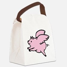 Adorable Angel Pig Canvas Lunch Bag