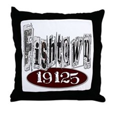 Unique Philadelphia Fishtown Throw Pillow