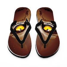 Wild Puma Eyes Flip Flops