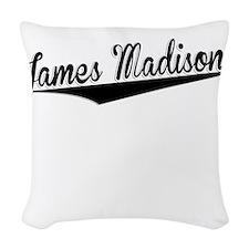 James Madison, Retro, Woven Throw Pillow