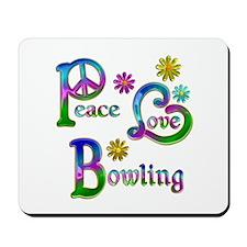 Peace Love Bowling Mousepad