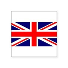 "Unique British Square Sticker 3"" x 3"""