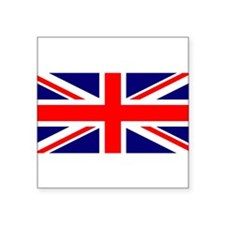 "Cute British Square Sticker 3"" x 3"""