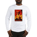Obey the Boxer! Long Sleeve T-Shirt
