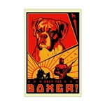 Obey the Boxer! Mini Poster Print