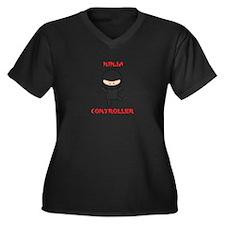 Ninja Contro Women's Plus Size V-Neck Dark T-Shirt
