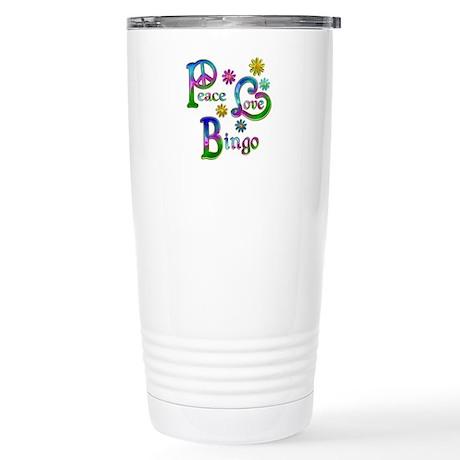 Peace Love Bingo Stainless Steel Travel Mug