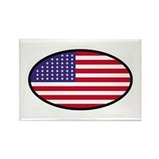 Star Spangled Oval Rectangle Magnet