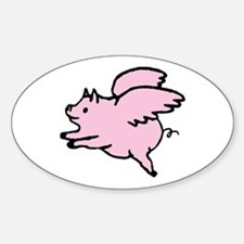 Adorable Angel Pig Decal