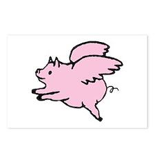 Adorable Angel Pig Postcards (Package of 8)