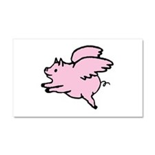 Adorable Angel Pig Car Magnet 20 x 12