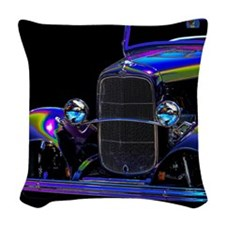 Classic Ford Hotrod - Vintage Auto Woven Throw Pil
