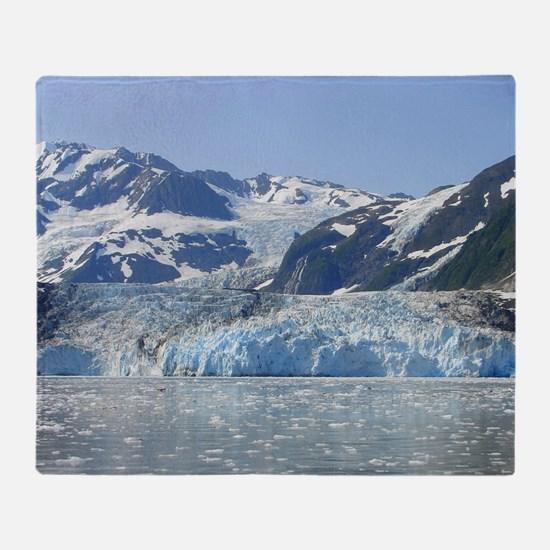 Where Glacier Meets Ocean Throw Blanket