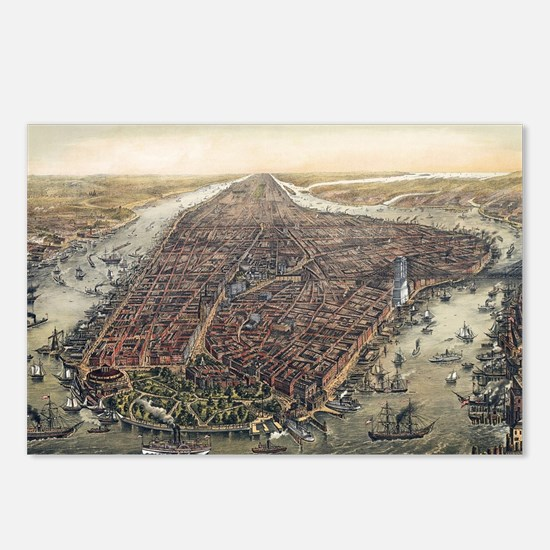 Map of New York City Postcards (Package of 8)