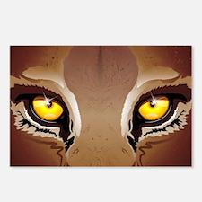 Wild Puma Eyes Postcards (Package of 8)