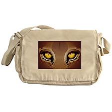 Wild Puma Eyes Messenger Bag