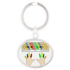 keyboard Oval Keychain