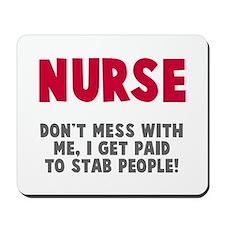 Nurse Stab People Mousepad