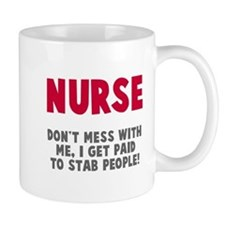 Nurse Stab People Small Mug
