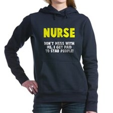 Nurse Stab People Women's Hooded Sweatshirt
